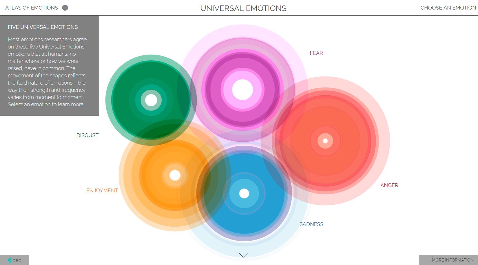 """Un """"Atlas de Emociones"""" para mapear el universo emocional de la persona"""